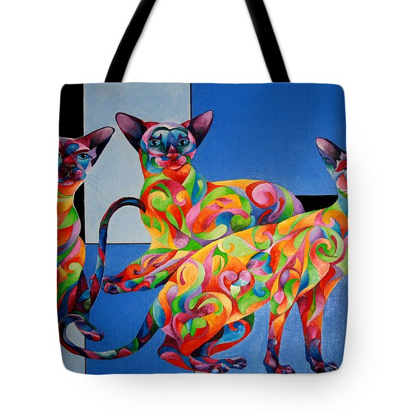 We Are Siamese If You Please Tote Bag by Sherry Shipley