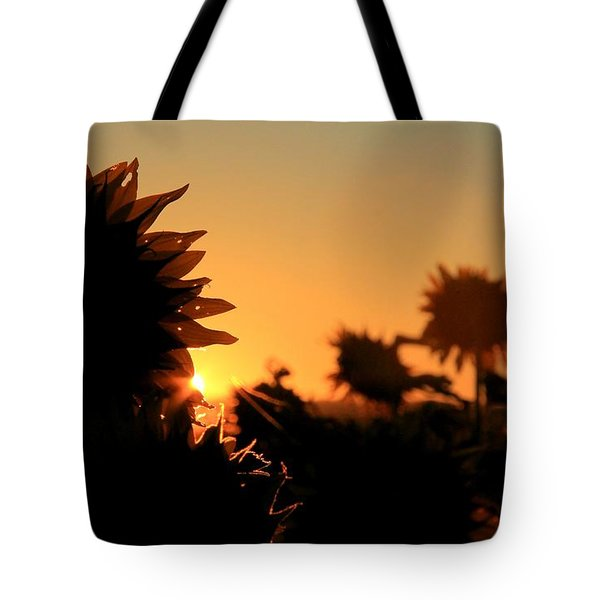 Tote Bag featuring the photograph We Are Sunflowers by Chris Berry