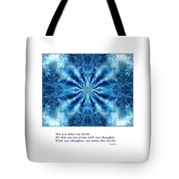 Tote Bag featuring the digital art We Are What We Think by Kristen Fox