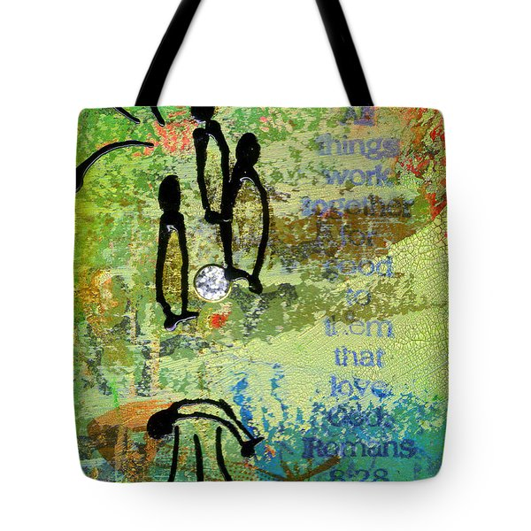 We Believe Romans 8 28 Tote Bag