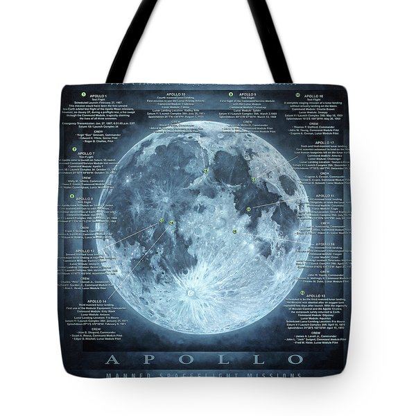 We Choose To Go To The Moon Tote Bag