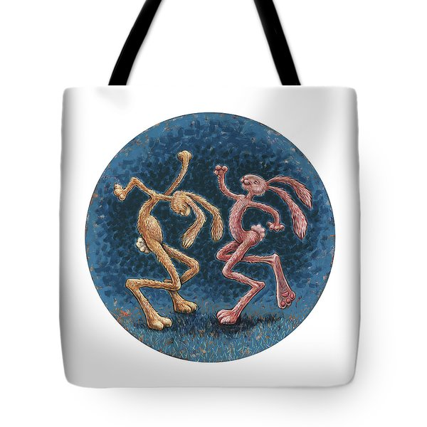 We Dance To Save The Round World  Tote Bag