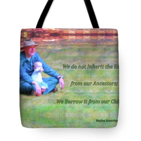 We Do Not Inherit The Earth - V3 Tote Bag