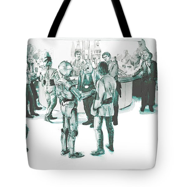 We Don't Serve Their Kind Here Tote Bag by Kurt Ramschissel