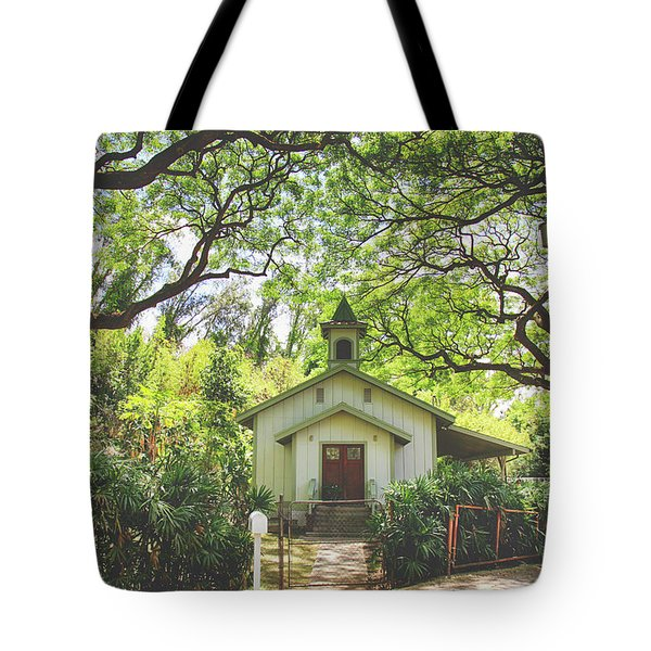 We Gather Beneath The Trees Tote Bag