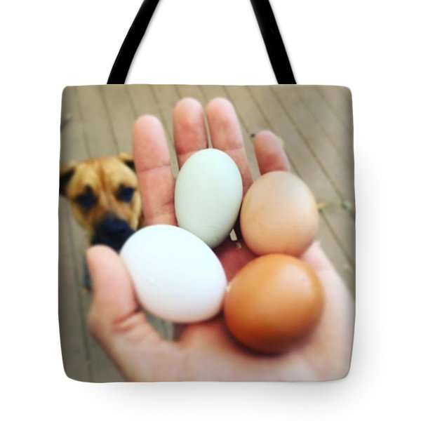 Blue Egg Tote Bag