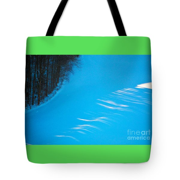 Tote Bag featuring the photograph We Got The Blues - Winter In Switzerland by Susanne Van Hulst