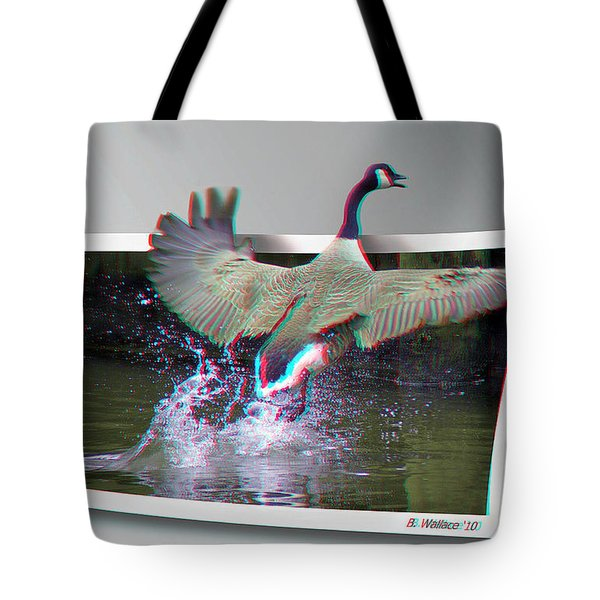 We Have Liftoff - Use Red-cyan 3d Glasses Tote Bag by Brian Wallace
