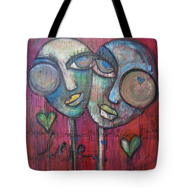 We Live With Love In Our Hearts Tote Bag