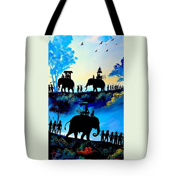 We March At Sunrise  Tote Bag by Ian Gledhill