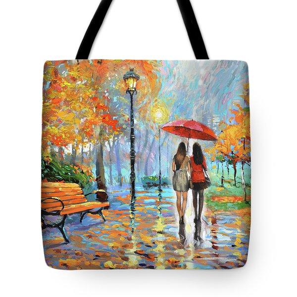 We Met In Park          Tote Bag by Dmitry Spiros