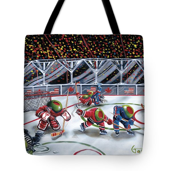 We Olive Hockey Tote Bag