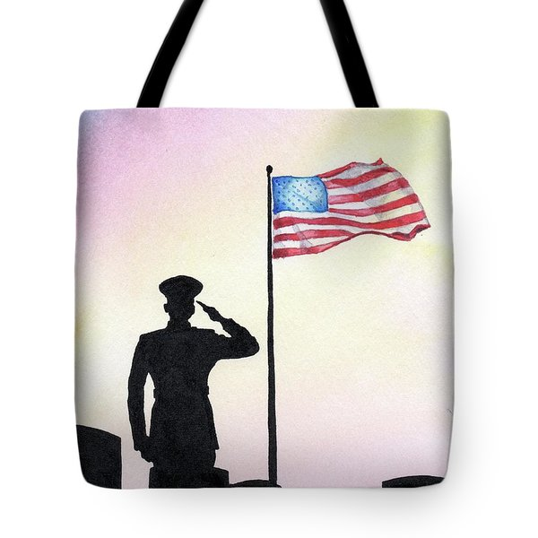 Tote Bag featuring the painting We Remember by Betsy Hackett