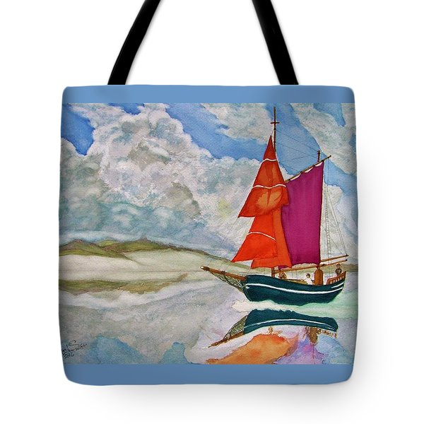 We Sailed Upon A Sea Of Glass Tote Bag by Rand Swift