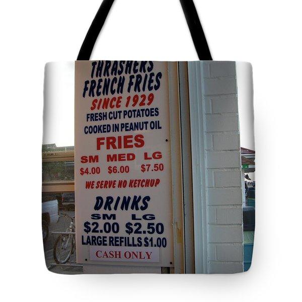 We Serve No Ketchup Tote Bag