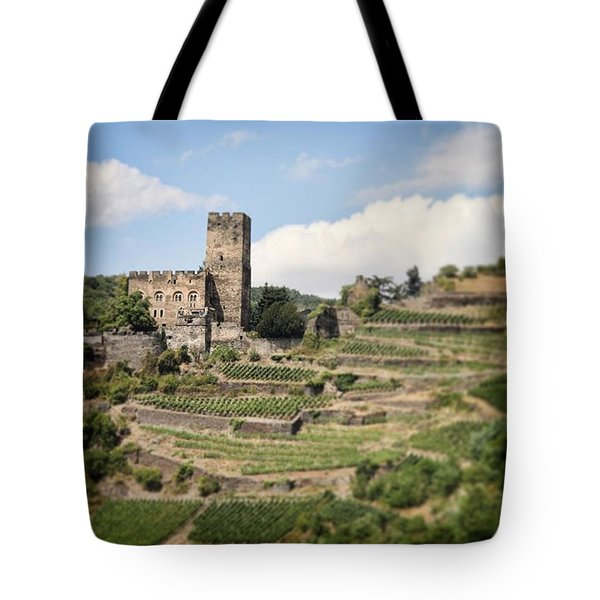 Rhine River Castle And Winery Tote Bag