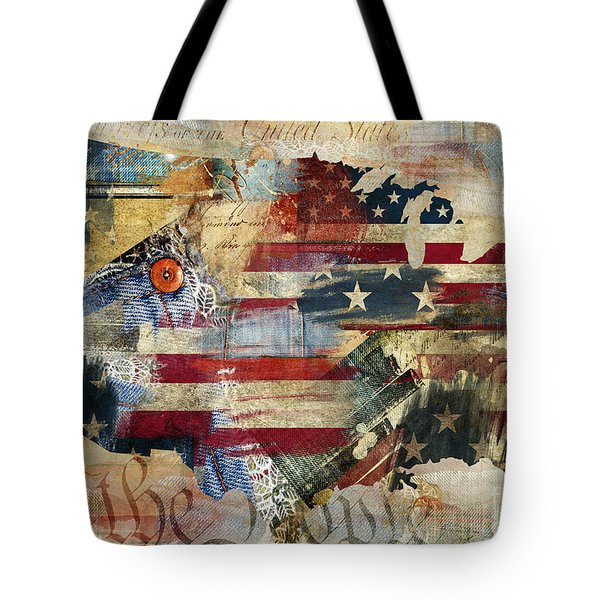 We The People Map America Tote Bag