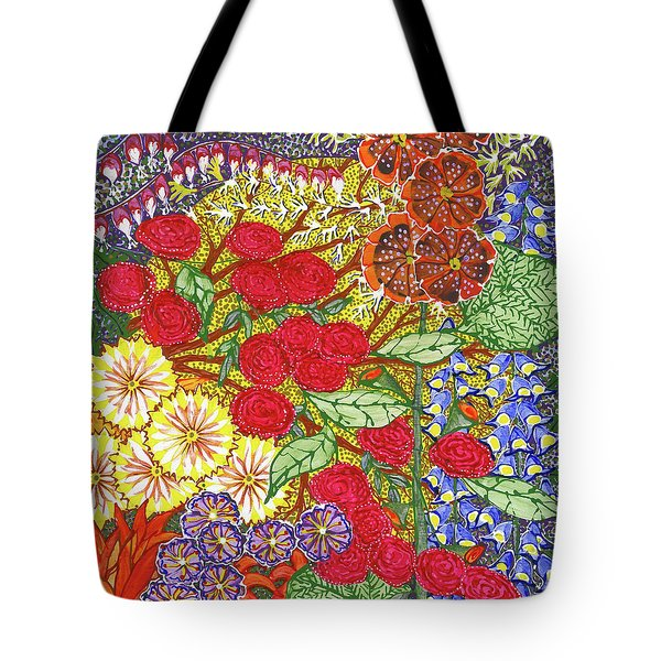 Tote Bag featuring the painting We Will Have Many Blooms #2 by Kym Nicolas