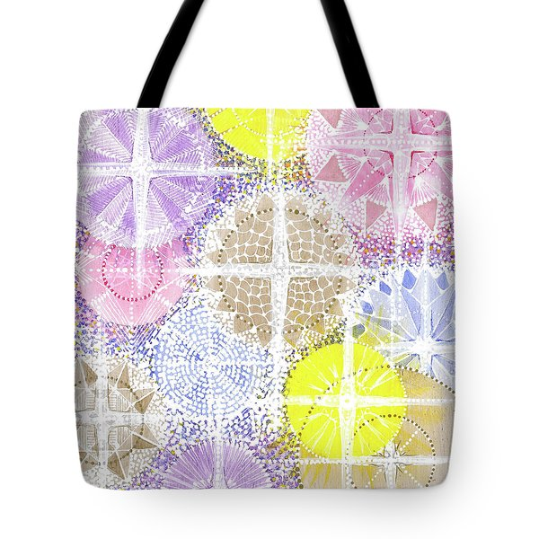 Tote Bag featuring the painting We Will Have Many Stars #2 by Kym Nicolas