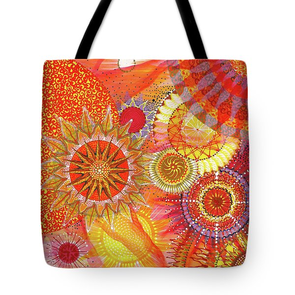 Tote Bag featuring the painting We Will Have Many Suns #2 by Kym Nicolas