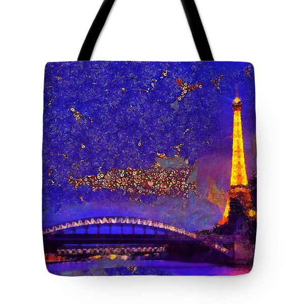 Tote Bag featuring the painting We Will Meet In Paris by Sir Josef - Social Critic - ART