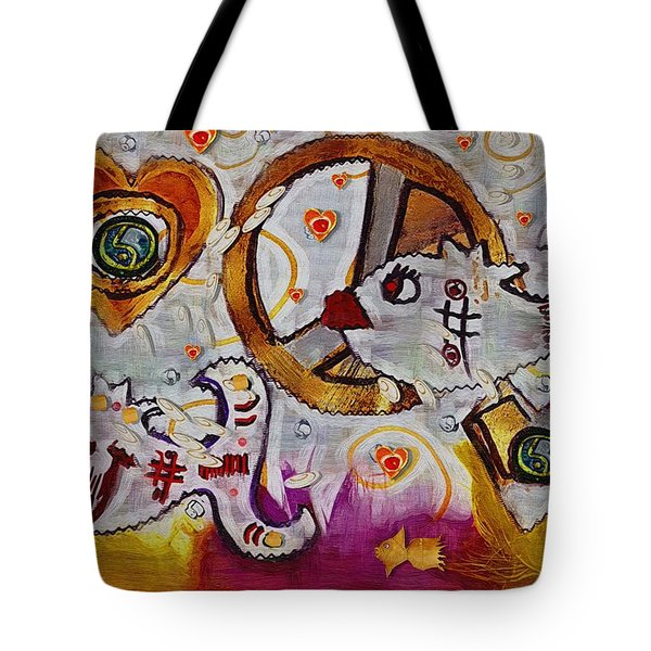 We Wont You To Clean Our Water With Love Tote Bag by Pepita Selles