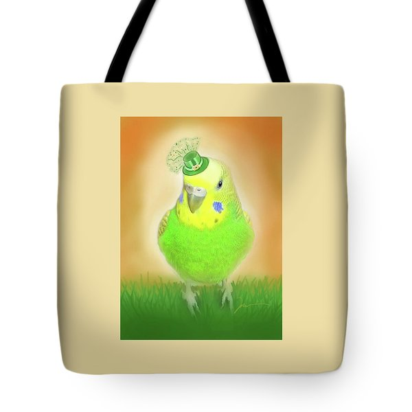 Tote Bag featuring the digital art Wearin' Of The Green by Jean Pacheco Ravinski