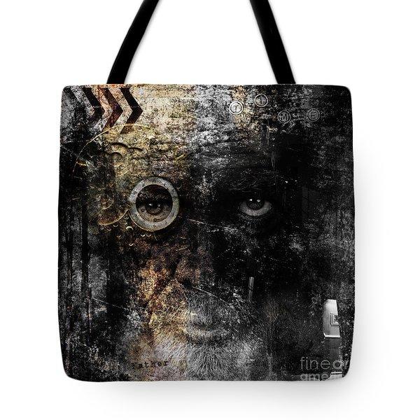 Tote Bag featuring the digital art Weary by Nola Lee Kelsey
