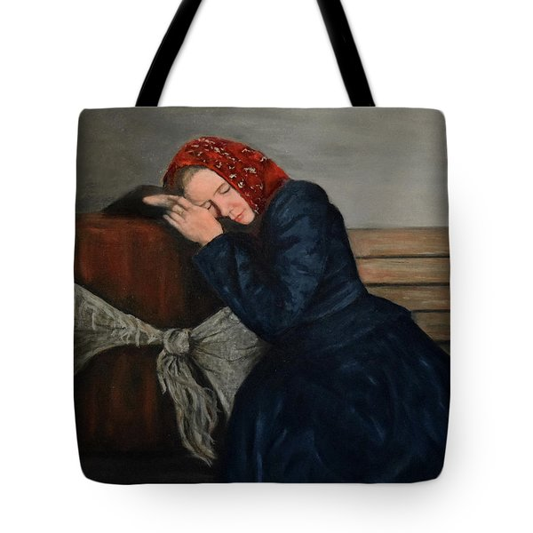 Weary Traveler Tote Bag