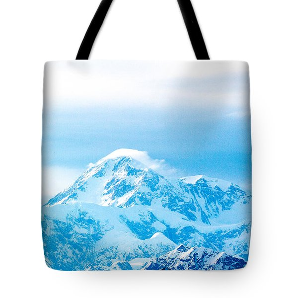 Weather Change At Denali Tote Bag by Allan Levin