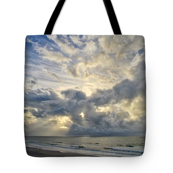 Weather Over Topsail Beach 2977 Tote Bag