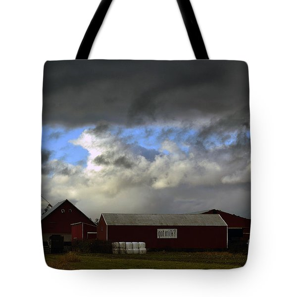 Weather Threatening The Farm Tote Bag