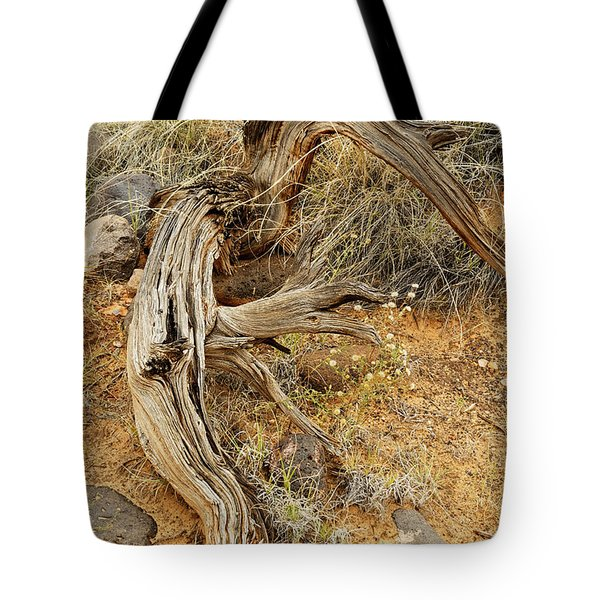 Weather Tree And Wildflowers Tote Bag