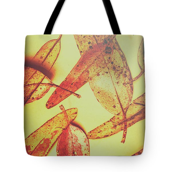 Weathered Autumn Leaves Tote Bag