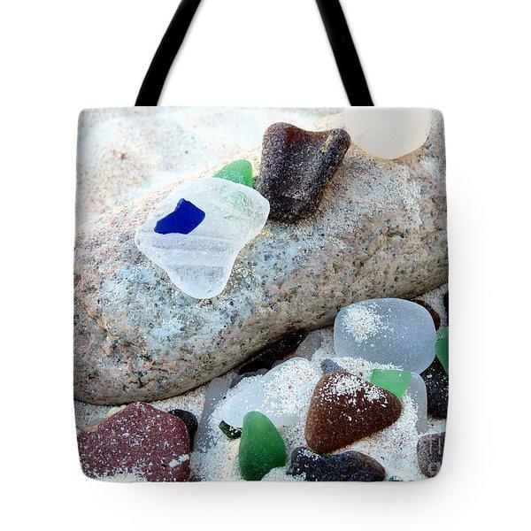 Weathered Beach Gems Tote Bag