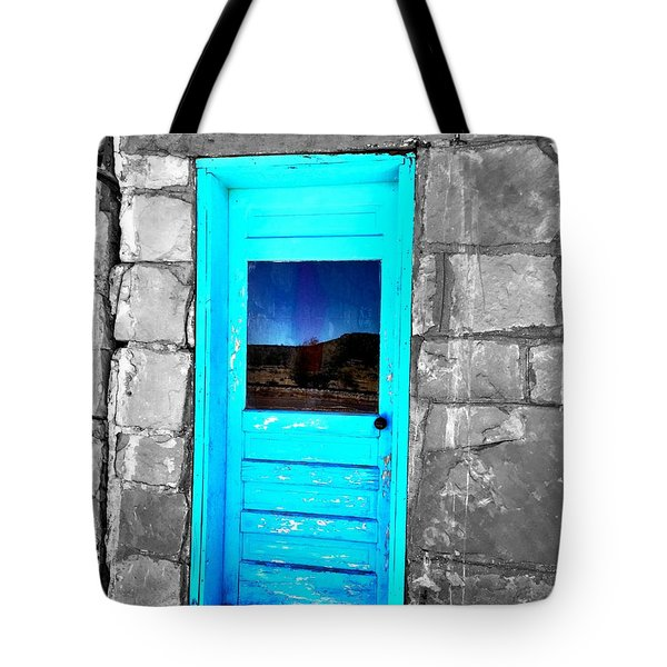 Weathered Blue Tote Bag