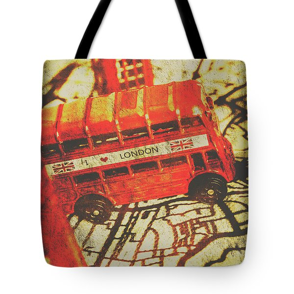 Weathered Bus Routes Tote Bag
