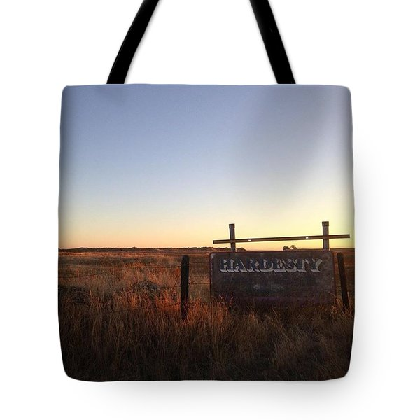 Weathered Hardesty Sign  Tote Bag