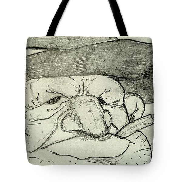 Weathered Old Man Tote Bag by Yshua The Painter