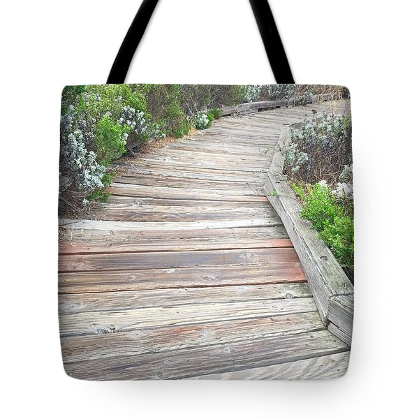 Weathered Path Tote Bag