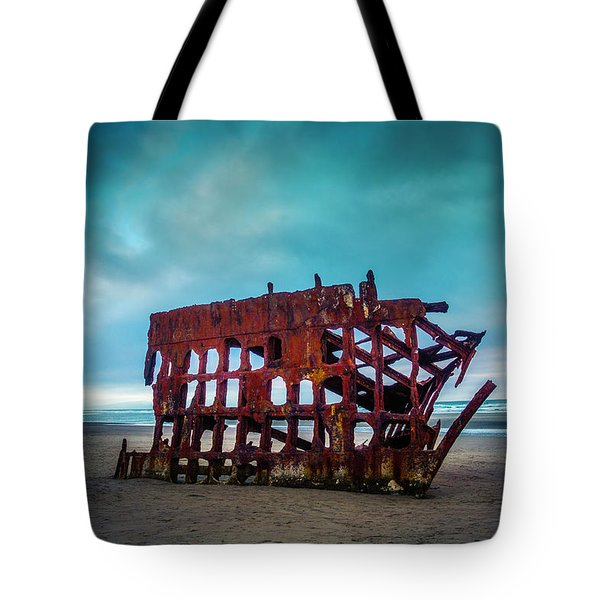 Weathered Rusting Shipwreck Tote Bag