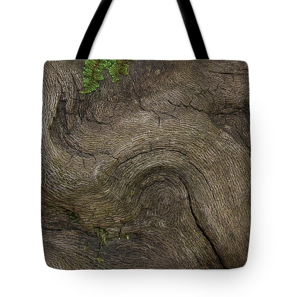 Tote Bag featuring the photograph Weathered Tree Root by Mike Eingle