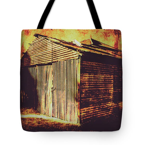Weathered Vintage Rural Shed Tote Bag