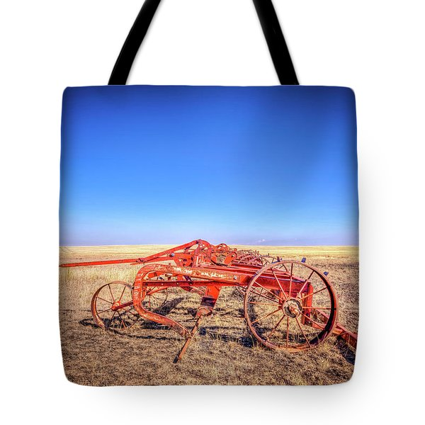 Weathered Wheels Tote Bag