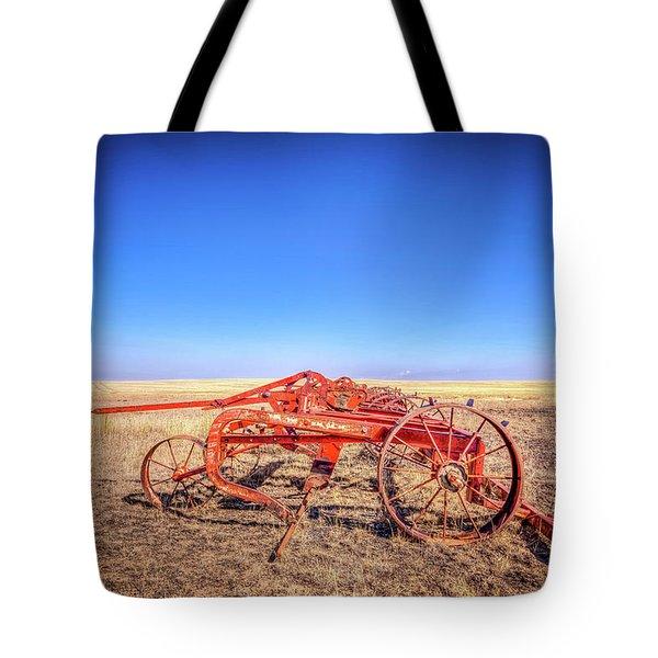 Weathered Wheels Tote Bag