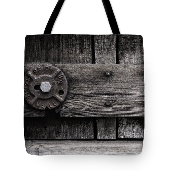 Weathered Wood And Metal Four Tote Bag by Kandy Hurley