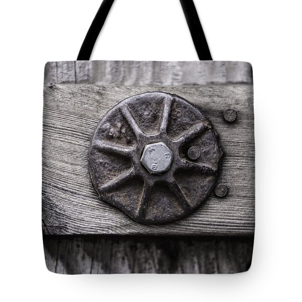 Weathered Wood And Metal One Tote Bag