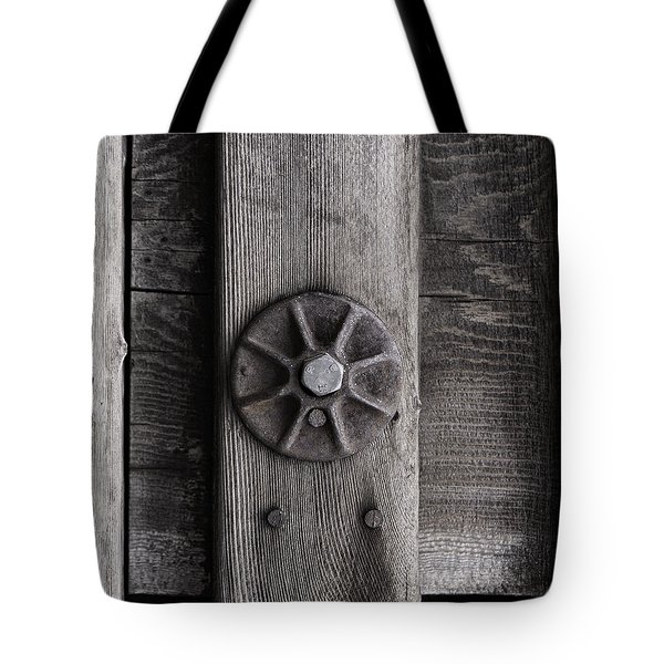 Weathered Wood And Metal Three Tote Bag by Kandy Hurley