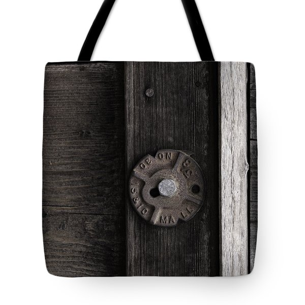 Weathered Wood And Metal Two Tote Bag