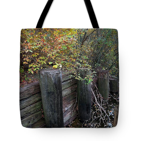Weathered Wood In Autumn Tote Bag